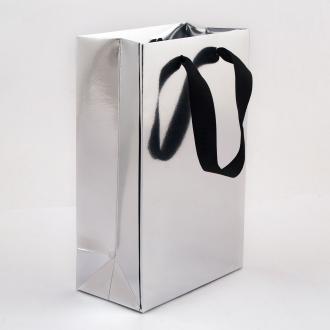 Пакет паперовий 15*23*8 см срібний