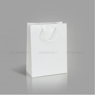 Пакет бумажный белый с ручками