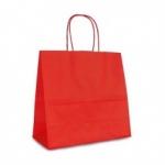 Пакет крафтовый 25х24х11 см красный
