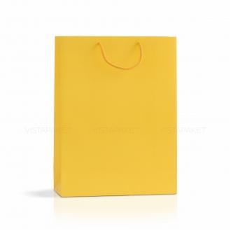 Пакет бумажный желтый 30х40х12 см
