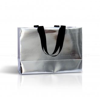 Пакет бумажный серебряный