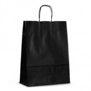 Пакет крафтовый 32х42х13 см черный