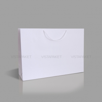 Пакет подарочный бумажный белого цвета