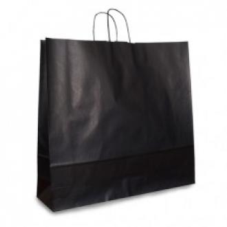 Пакет крафтовый черный подарочный с крученными ручками