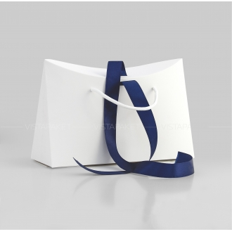 Пакет-сумка паперовий білий
