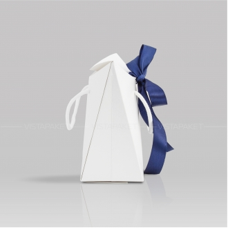 Пакет-сумка бумажный белый