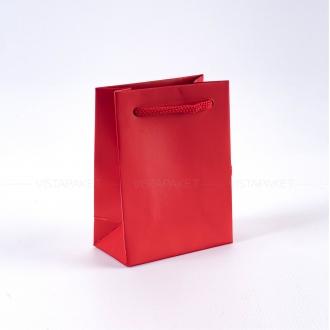 Пакет красный бумажный