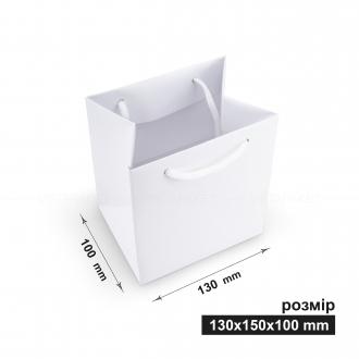 Пакет горизонтальный 13х15х10 см белый
