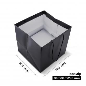 Пакет горизонтальный 30х30х29 см черный