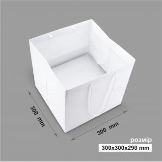 Пакет горизонтальный 30х30х29 см белый