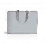 Пакет бумажный 35 х 25 х 9 см silver с лентой