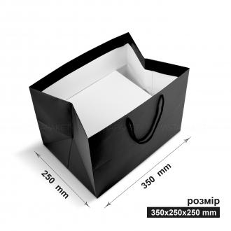 Пакет горизонтальный 35х25х25 см черный