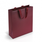 Пакет бумажный 35*40*12 см винный Emboss, структура 18