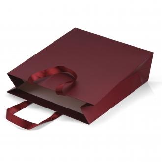 Пакет бумажный 35*40*12 см винный  Emboss