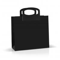Пакет картонный с ручкой 33*30*12 см черный